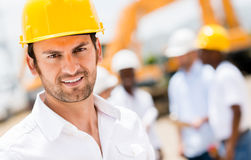 Civil engineer at a construction site Royalty Free Stock Photography