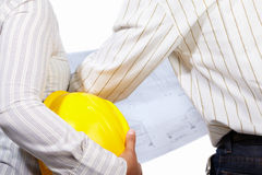 Civil engineer and partner Stock Images