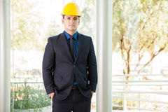 Civil Engineer in a suit Royalty Free Stock Images