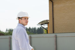 Civil Engineer Visiting the Construction Site Stock Photo