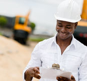 Civil engineer working Royalty Free Stock Images
