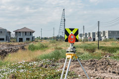 civil engineering and construction projects with survey equipmen Royalty Free Stock Photo