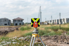 civil engineering and construction projects with survey equipmen Stock Photography