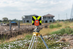 civil engineering and construction projects with survey equipmen Stock Photos