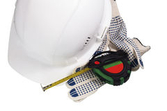 Civil Engineers accessories. Accessories Engineer builder on a completely white background stock image