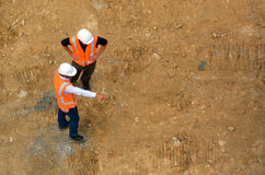 Civil engineers inspecting construction site Royalty Free Stock Photography