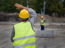 Civil engineers with theodolite Royalty Free Stock Photography
