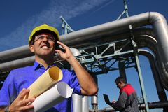 Civil Engineers At Work royalty free stock photography