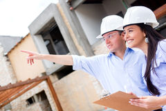Civil engineers working Royalty Free Stock Photo