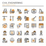 Civil Enginerring , Thin Line and Pixel Perfect Icons. Civil Enginerring elements , Thin Line and Pixel Perfect Icons Royalty Free Stock Photos