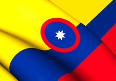Civil Ensign of Colombia Stock Photo