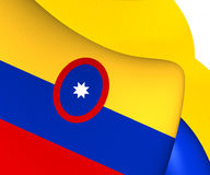 Civil Ensign of Colombia Royalty Free Stock Photos