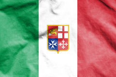 Civil Ensign of Italy. Stock Photo