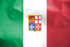 Civil Ensign of Italy. Stock Photography