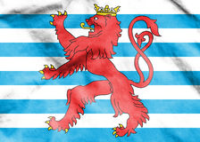 Civil Ensign of Luxembourg. Royalty Free Stock Photos