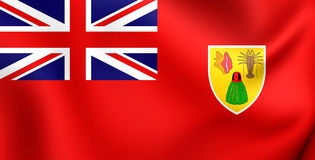 Civil Ensign of the Turks and Caicos Islands Royalty Free Stock Photography