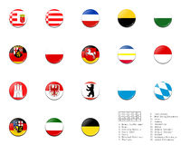Civil flag balls of Germany state. This picture is the civil flag balls of state of Germany, which is not included in DT yet Stock Images