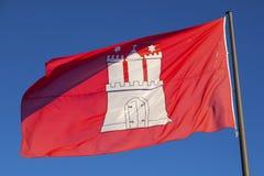 Civil flag of Hamburg Stock Images