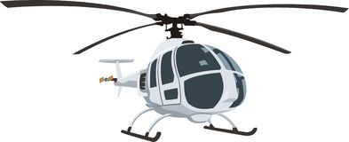 Civil helicopter. Modern passenger helicopter frontal wiew Stock Images