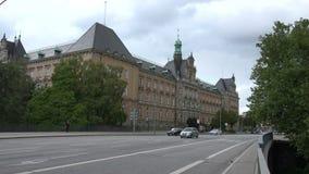 Civil justice court Hamburg. Establishing shot of the Hamburg civil justice court stock video footage