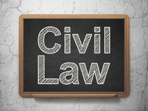 Civil Law on chalkboard background Stock Photos