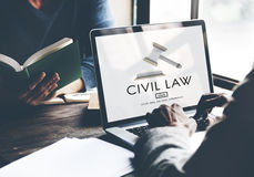 Civil Law Common Justice Legal Regulation Rights Concept.  Royalty Free Stock Images