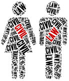 Civil law. Concept related to different areas of law. Royalty Free Stock Images