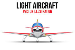 Civil Light Aircraft Royalty Free Stock Photos