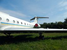 Civil and military aircraft in. Detail stock images