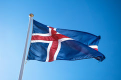 The civil national flag of Iceland Royalty Free Stock Image