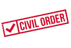 Civil Order rubber stamp Royalty Free Stock Photography