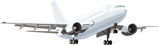 Civil plane. The modern civil average plane Stock Photo