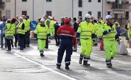 Civil Protection during International Exercise Stock Photography