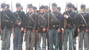 Civil Reenactment stock video footage