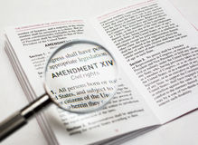 Civil rights in the constitution of the United States. Amendment about civil rights in the us constitution Stock Photos