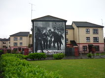 Civil Rights Mural in Derry. Wall mural in Derry, Northern Ireland stock photography