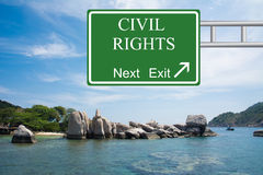 Civil Rights Next Exit Royalty Free Stock Photo