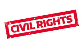 Civil Rights rubber stamp. Grunge design with dust scratches. Effects can be easily removed for a clean, crisp look. Color is easily changed stock illustration