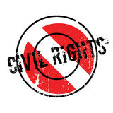 Civil Rights rubber stamp. Grunge design with dust scratches. Effects can be easily removed for a clean, crisp look. Color is easily changed vector illustration