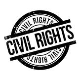 Civil Rights rubber stamp. Grunge design with dust scratches. Effects can be easily removed for a clean, crisp look. Color is easily changed royalty free illustration