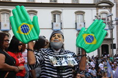 Civil servants' strike in Rio de Janeiro Royalty Free Stock Photography
