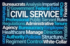 Free Civil Service Word Cloud Stock Photography - 139052452