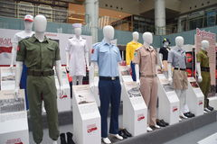 Civil Uniform from the Past Singapore Royalty Free Stock Photo