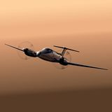 Civil utility aircraft Royalty Free Stock Images