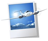 Civil utility airplane. Vector Civil Airplane. Available EPS-8 vector formats separated by groups and layers for easy edit Stock Photos