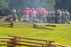 Civil war. Galesburg, IL - August 16th: Civil war reenactment Battle of Antietam August 16th, 2009 in Galesburg, IL Stock Image