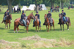 Civil war. Galesburg, IL - August 16th: Civil war reenactment Battle of Antietam with Medical Demo August 16th, 2009 in Galesburg, IL Stock Images