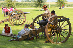 Civil war. Galesburg, IL - August 16th: Civil war reenactment Battle of Antietam August 16th, 2009 in Galesburg, IL Royalty Free Stock Images