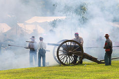 Civil war. Galesburg, IL - August 16th: Civil war reenactment Battle of Antietam August 16th, 2009 in Galesburg, IL Royalty Free Stock Photo