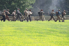 Civil war. Galesburg, IL - August 16th: Civil war reenactment Battle of Antietam August 16th, 2009 in Galesburg, IL Royalty Free Stock Photography